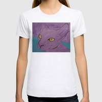 Purple Sphynx Womens Fitted Tee Ash Grey SMALL