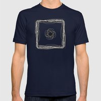 Particle In A Box Mens Fitted Tee Navy SMALL