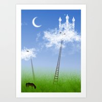 CASTLE IN THE CLOUDS Art Print