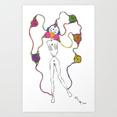 Connected 3 Art Print