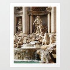 Rome, Italy. Trevi Fountain. Art Print