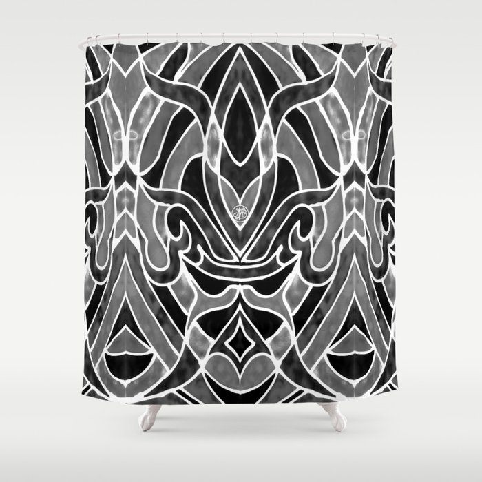 Fleur de lis shower curtain by artlovepassion society6 - Fleur de lis shower curtains ...