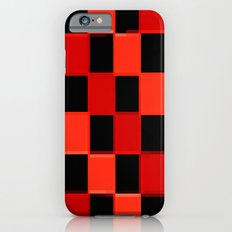 Red & Black Checkers : CheckerBoarD iPhone 6 Slim Case