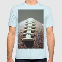 Football Season, American Sports, Pigskin Mens Fitted Tee Light Blue SMALL