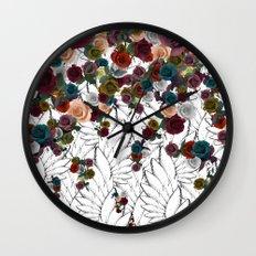 falling flowers Wall Clock