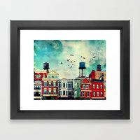 A Noble Avenue Framed Art Print