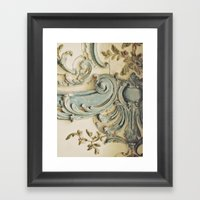 Blue Lace of Versailles Framed Art Print