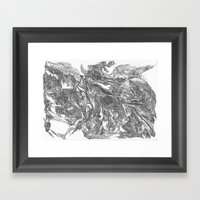 Woman Emerging From The … Framed Art Print