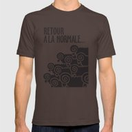 Retour à La Normale Mens Fitted Tee Brown SMALL