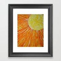 Hard Sun Framed Art Print