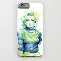 Marilyn Portrait Watercolor Painting iPhone 6 Slim Case