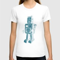 robot T-shirts featuring ROBOT by Charlotte Dandy