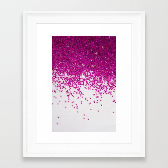 Fun I (NOT REAL GLITTER) Framed Art Print