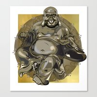 Laughing Buddha II Canvas Print