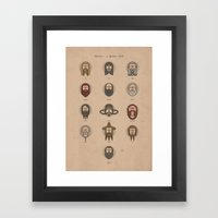 Dwarves - A Spotters Guide. Framed Art Print