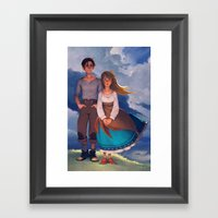 Molly & Théo Framed Art Print