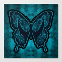 Henna Butterfly No. 6 Canvas Print