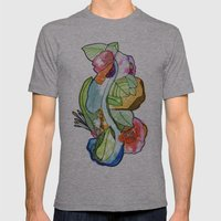 Flower Heart Mens Fitted Tee Athletic Grey SMALL