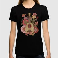 Ever Mandolin  Womens Fitted Tee Black SMALL