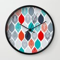 popping leaves Wall Clock