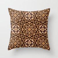 Leopard Fur Abstract Kal… Throw Pillow