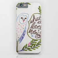 iPhone & iPod Case featuring Owl in ferns by Penguin & Fish