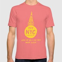 NYC Mens Fitted Tee Pomegranate SMALL