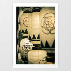 Japanese Festival Laterns in Gion, Kyoto II Art Print