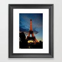 Lighting the Tower Framed Art Print