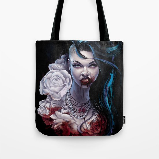 "Marceline  ""shades of red"" Tote Bag"