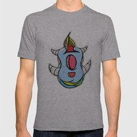 Cute Monster Mens Fitted Tee Athletic Grey SMALL