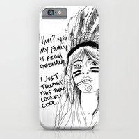 iPhone & iPod Case featuring Attention Whore - BW by Fyza Hashim
