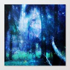Blue night #Wood Canvas Print
