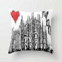I love Milan Throw Pillow