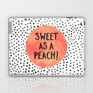 Sweet As A Peach! Laptop & iPad Skin