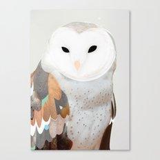 WHITE OWL Canvas Print