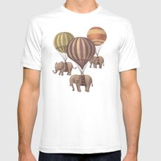 Flight of the Elephants - mint option SMALL Mens Fitted Tee White