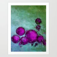 Lila Balls Art Print