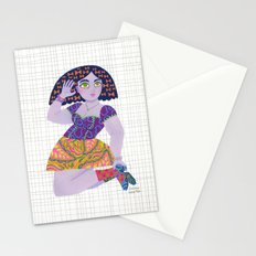Bow Girl Stationery Cards