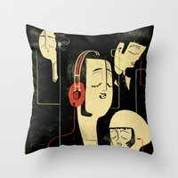 乐 Music Lovers Throw Pillow