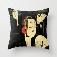乐 Music Lovers / Vintage  Throw Pillow