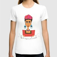 qué haría Frida? Womens Fitted Tee White SMALL