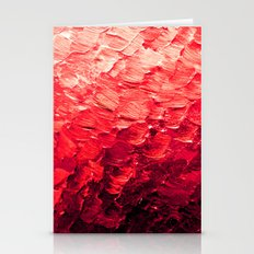 MERMAID SCALES 4 Red Vib… Stationery Cards
