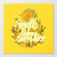 Smells Like Sunshine Canvas Print