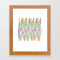 Vertical Brush Strokes  Framed Art Print