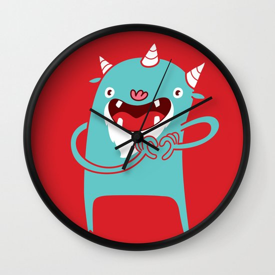 Monster Hearts You! Wall Clock