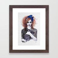 Miss Emma & Her Bunny Framed Art Print