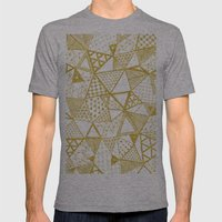 Golden Doodle Triangles Mens Fitted Tee Athletic Grey SMALL