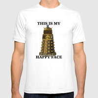 This IS My Happy Face Mens Fitted Tee White SMALL