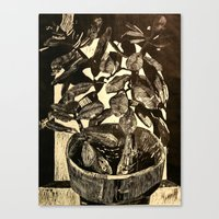 Canvas Print featuring Plant by Anya Smolnikova